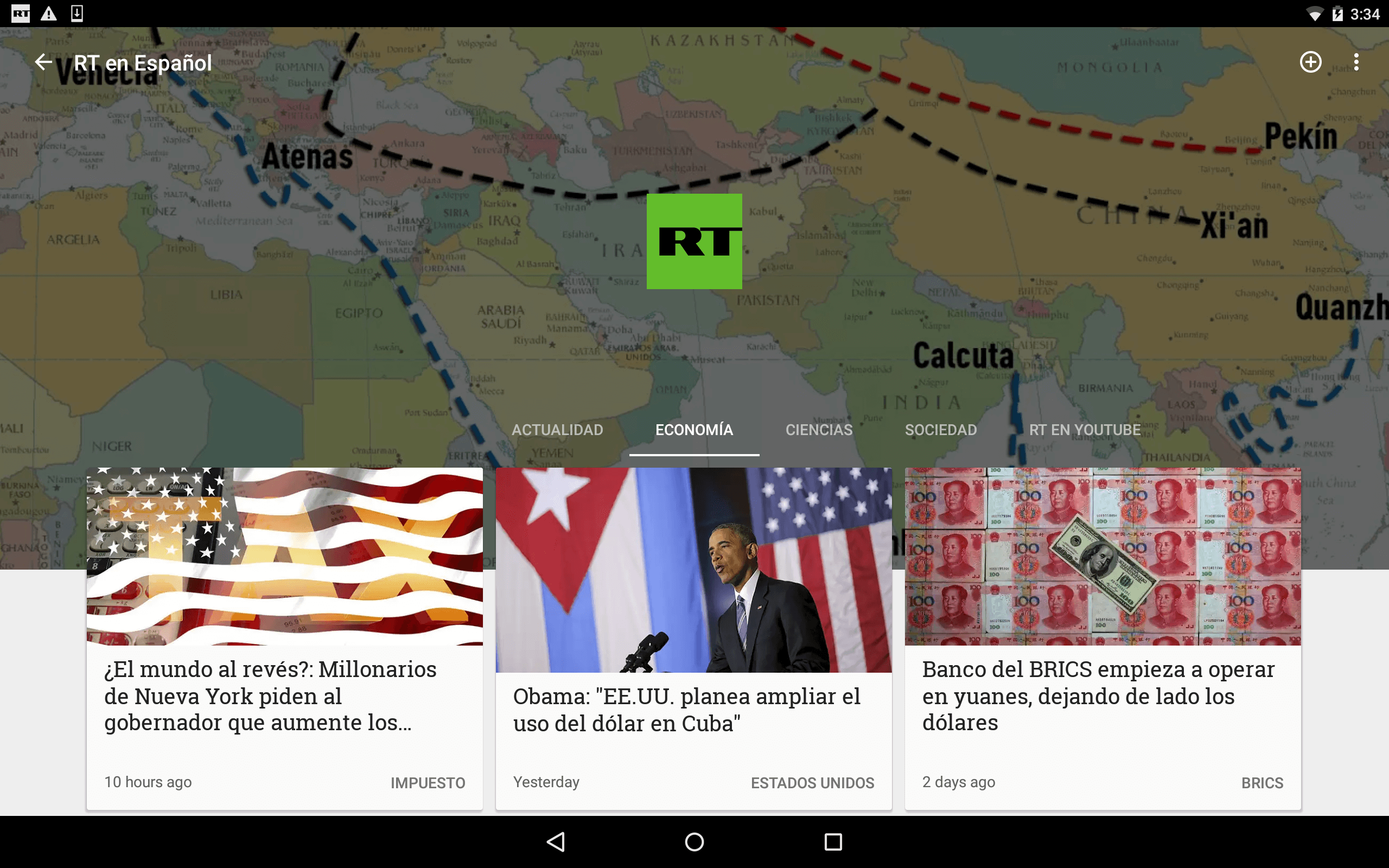 Newsstand Tablet Screenshot